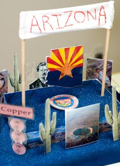 state float project - Google Search School Projects, Projects For Kids, 4th Grade Social Studies, State School, Arizona State, Fifth Grade, School Fun, Missouri, Ohio