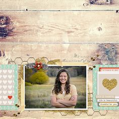 Autumn / Fall digital scrapbook page by kv2av, using Year of Templates 13 by Sahlin Studio