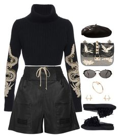 """Exempt"" by oh-aurora ❤ liked on Polyvore featuring Valentino, Horiyoshi the Third, Rick Owens, Simone Rocha, Jean-Paul Gaultier, Yves Saint Laurent and Cartier"