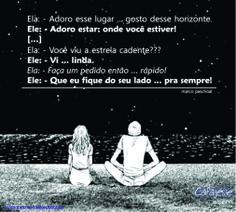 Namorando estrela. #amor #desejo #paixão