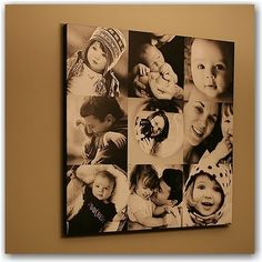 I have coveted this canvas since the first time I saw it on Erin's blog. One day I will make one of these, I just have a problem trying to decide on the pictures!