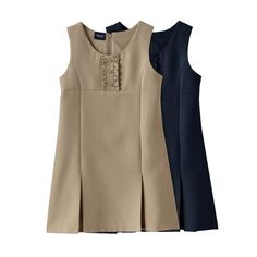 Chaps Pleated Ruffled Uniform Jumper - Girls 4-6x
