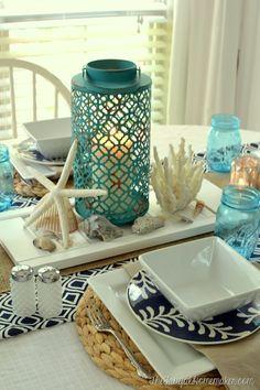 Beach Themed Tablescape
