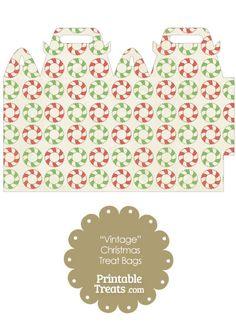 Vintage Christmas Wreath Treat Bag from PrintableTreats.com