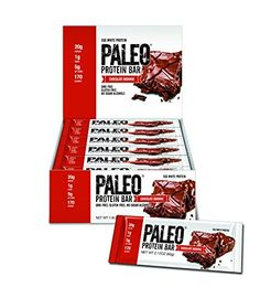 (Paleo Snacks) - Paleo Protein Bar® (Chocolate Brownie) 12 Bars Egg White Protein 5 Net Carbs) Sugar Gluten Free) * Continue to the product at the image link. (This is an affiliate link) Paleo Recipes, Gourmet Recipes, Julian Bakery, Paleo Protein Bars, Egg White Protein, Paleo For Beginners, Sweet Potato Chips, Plant Protein, How To Eat Paleo