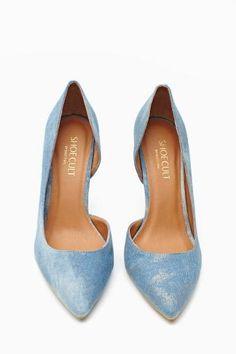 Luxe Pump in Denim. #ShoeCult by #NastyGal