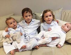 Increíble esta familia erregeada! Gracias por la foto, están brutales , cada uno con su estilo y acorde con su edad. Cuatro hermanos geniales! #hermanos #errgeados #pijamastime #niñosconpijama #madeinspain