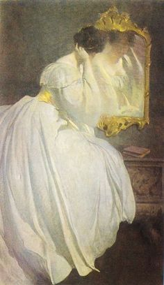 """Lady Before a Mirror"" by John White Alexander (1856 1915)."