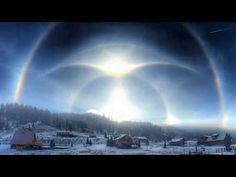 Rainbow halos form above New Mexico, because nature is awesome