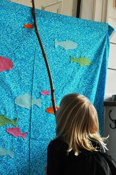 Could improvise on this, too.  So cute for the little ones who can't really fish.