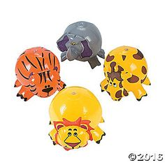 Have a wild time with our unique Inflatable Zoo Animal Beach Balls! These unusual birthday party, pool party and beach party supplies are sure to be a hit. ...