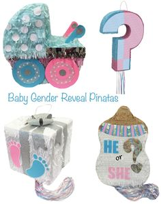 Host a baby gender reveal party to share your news and celebrate with close family and friends. Here are 10 ideas to get your party started. Gender Reveal Pinata, Gender Reveal Party Games, Confetti Gender Reveal, Gender Party, Baby Shower Gender Reveal, Reveal Parties, Baby Party, Baby Shower Parties, Shower Baby