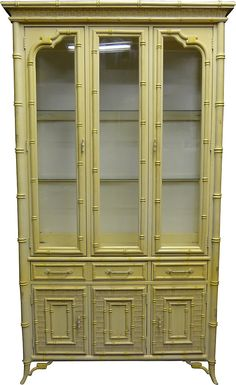 IOne Kings Lane - Dining Room Furniture - Faux-Bamboo China Cabinet