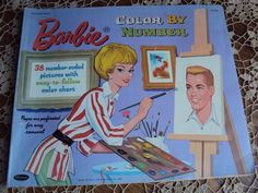 1962 Whitman Barbie Doll Color by Number Book 38 Number Coded Pages Vintage | eBay