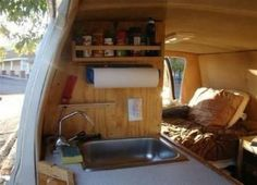 "A man named Steve, who goes by the nickname ""The Van Guy,"" has an entire website devoted to converting vans and buses into living spaces.:"