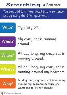 Teacher's Pet Displays » Stretching a Sentence Poster » FREE downloadable EYFS, KS1, KS2 classroom display and teaching aid resources » A Sparklebox alternative  | followpics.co