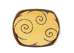 "Gold Ceramic Fruit Plate 9"""
