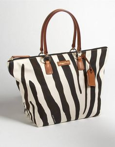 Dooney & Bourke Large Animal Print Tulip Shopper Zebra