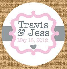 Personalized Wedding Stickers - Wedding Favors, Custom Wedding Sticker, Save the Date