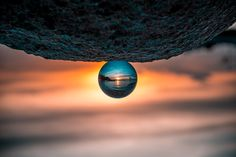 Lensball is a sleek crystal ball that allows you to capture deeply immersive experiences in ultrasharp wide-angle. Wide Angle Photography, Sunset Photography, Travel Photography, Photography Ideas, Fish Eye Effect, Gili Island, The Upside, Urban Setting, Mat Exercises