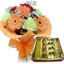 Seasonal flowers bunch with assorted mithai to Hyderabad delivery. Fast and free home delivery to Hyderabad. Visit our site : www.flowersgiftshyderabad.com/Combo-Gifts-to-Hyderabad.php