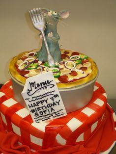 Ratatouille!   smallworldBIGFUN.com  #disney #disneycake