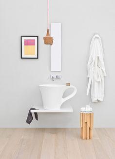 Coupe du lavabo donne à votre petite salle de bains une touche ludique