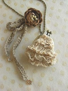 Mini purse necklace