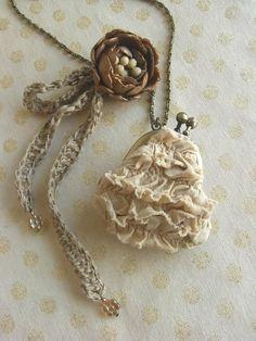 Mini purse necklace