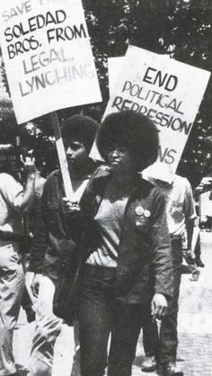 Angela Davis and Jonathan Jackson march to free George Jackson and the rest of the Soledad Brothers in Angela Davis, Jonathan Jackson, Black Panther Party, Black Panthers Movement, Alabama, Jim Crow, Power To The People, African Diaspora, African American History