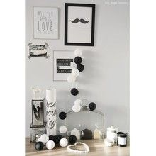 Cotton Ball Lights Black & White 50 kul