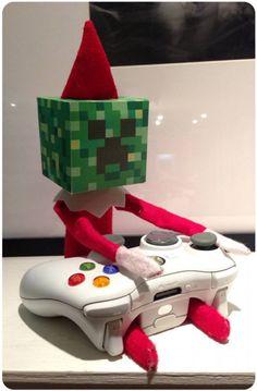 Minecraft - Creeper Head - 20+ Elf on the Shelf Ideas to Step Up This Year's Mischief | Nita Sambuco
