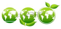 foglie: Earth day. Planet and green leaves Vettoriali