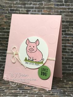 card critters pig hog SU This Little Piggy, Stampin' Up! #thislittlepiggy, #stampinup