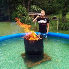 Home made hot tub... Awesome!!!