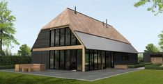 Architectenbureau Schakenraad | Architectenbureau Schakenraad Residential Architecture, Architecture Design, Barn House Plans, Wooden House, House Front, My Dream Home, Future House, Style At Home, New Homes