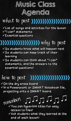 Agenda for music lessons: What, why, and how to post an agenda #elmused.....because it's part of teacher evaluation....because we have to.