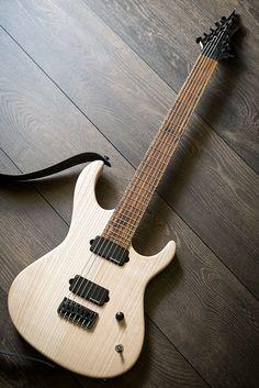 "Impressive home-made guitar, by ""amateur"" luthier. Note that Bocote fretboard — http://www.sevenstring.org/forum/sevenstring-guitars/274353-n-hb-gd-superstraty-fixed-bridge-7-string-blackouts-56k.html"