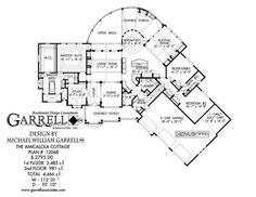 Amicalola Cottage House Plan 12068, 1st Floor Plan, Rustic House Plans, Mountain Style House Plans, Luxury House Plans