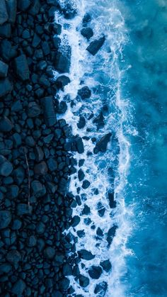 Ocean, surf, rocks, view from above, shore wallpaper | Cool backgrounds, Blue wallpaper iphone, Blue aesthetic pastel