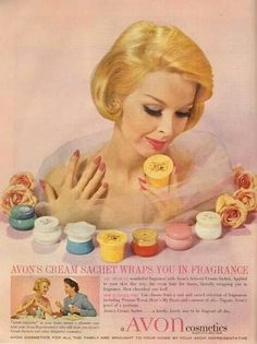 💗 I love looking at the Vintage Avon Ads 😍 Avon Vintage, Vintage Makeup Ads, Vintage Beauty, Retro Vintage, Vintage Trends, Vintage Perfume, Vintage Stuff, Retro Ads, Vintage Advertisements