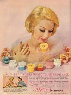Vintage Avon Cosmetic Ad.