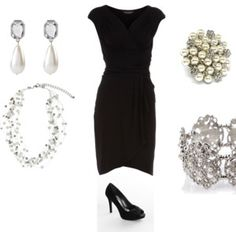 Little black dress with lots of sparkles...just my style