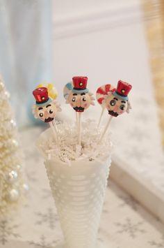 Nutcracker Cake Pops from a Nutcracker Ballet themed Birthday Holiday Party via Kara's Party Ideas | KarasPartyIdeas.com (8)