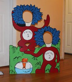 Dr Seuss Birthday Photo Booth Prop . Thing 1 by LittleGoobersParty