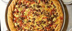 Πίτσα σπέσιαλ στον φούρνο.συριγος πέτρος,pizza,syrigos petros, Calzone, Vegetable Pizza, Quiche, Vegetables, Breakfast, Recipes, Food, Morning Coffee, Meal
