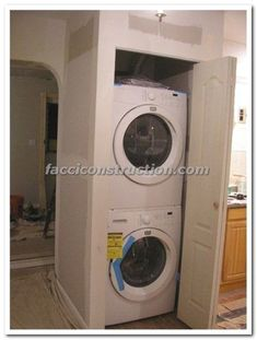 "Receive fantastic pointers on ""laundry room stackable washer dryer"". They are accessible for you on our site. Laundry Closet, Laundry Room Storage, Small Laundry, Closet Storage, Laundry Rooms, Boot Storage, Stackable Washer And Dryer, Stacked Washer Dryer, Bathroom Closet Organization"