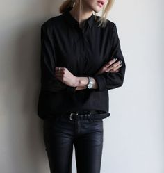 Minimalist fashion | All-black business attire