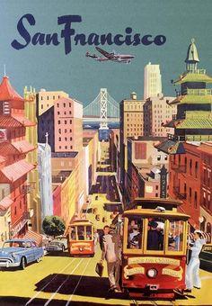 San Francisco travel poster, 1950s.
