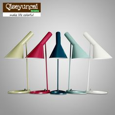 88.00$  Buy here - Replica Louis Poulsen Arne Jacobsen Table lamp 5 colors for option Europe AJ Desk Lamp Cafe Aisle Hall  LED bulb E27 read Lamps  #magazineonlinewebsite